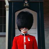 Vakt i London, England