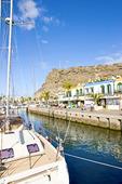 Hamnen i Puerto de Mogan, Spanien