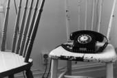 Telefon på stol