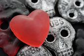 Geléhjärta och dödskallegodis