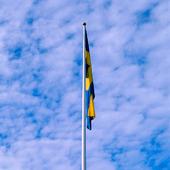 Svenska flaggan utan vind
