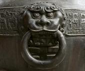 Bronse detalj i Peking, Kina
