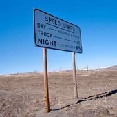 Trafikskylt i Montana, USA