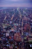 Kvällsvy över New York, USA