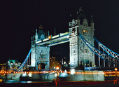 Tower Bridge i London, Storbritannien