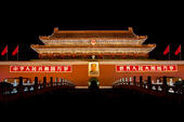 Ingång till Den förbjudna staden i Peking, Kina