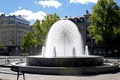Fontän vid Norra bantorget i Stockholm