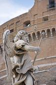 Staty vid Angelo bron i Rom, Italien