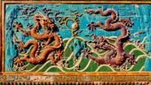Nine Dragons Screen. Beihai Park i Peking, Kina
