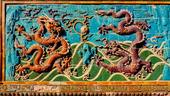 Nine Dragons Screen. Beihai Park i Peking, Kina