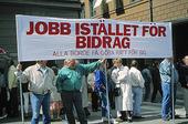 Demonstration mot arbetslösheten