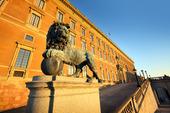 Lejonstaty vid Stockholms slott