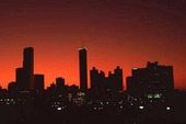 Skyline av Atlanta, USA
