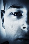 Pojke som gråter