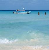 Karibiska sjön vid Cancun, Mexico