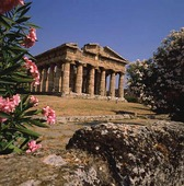 Ruin i Paestum, Italien