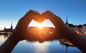 Hjärttecken över Stockholm