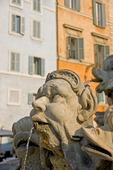 Fontän vid Pantheon i Rom, Italien