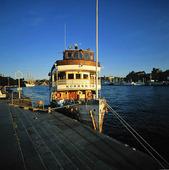 Skärgårdsbåt i Stockholms hamn