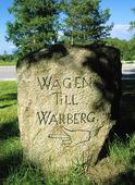Gammal vägvisare till Varberg