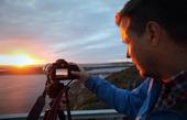 Fotografering i solnedgång