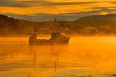 Fiskebåt i Tysfjord, Nordnorge