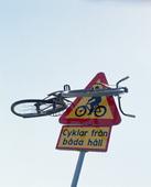 Cykel på trafikskylt