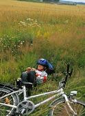 Pojke vid cykel