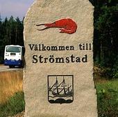 Välkomstskylt till Strömstad, Bohuslä