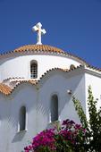 Kyrka i Pigadia på Karpathos, Grekland