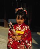 Flicka i kimono, Japan