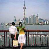 Pudong distriktet i Shanghai, Kina