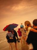 Människor på strand