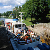 Sluss i Göta Kanal i Västergötland