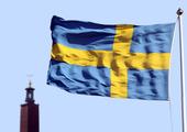Svensk flagga i Stockholm