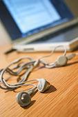 Hörlurar med bärbar dator