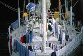 Tvätt på segelbåt