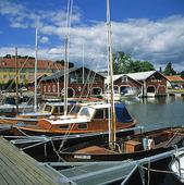 Hamnen i  Hjo, Västergötland