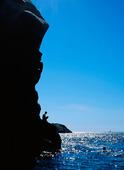 Bad vid klippa, Bohuslän