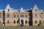 Söderhamns gamla järnvägsstation i Hälsingland