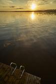 Solnedgång över Siljan, Dalarna