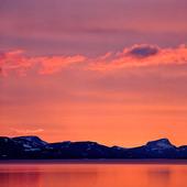 Skymning vid Sitasjaure, Lappland