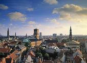 Vy över Köpenhamn, Danmark