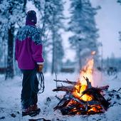 Lapp vid öppen eld, Lappland