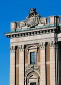 Detalj av Riksdagshuset Stockholm