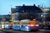 Spårvagnar i Göteborg nattetid