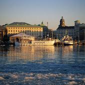 Vinter i Göteborgs hamn