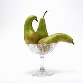 Päron i fruktskål