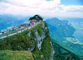 Toppen av Schafberg, Österrike