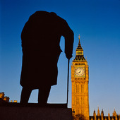 Staty Winston Churchill i London, Storbritannien